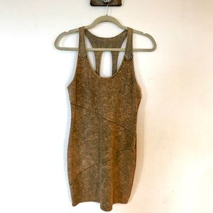 Free People Earth colored bodycon dress